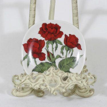 Arabia Rosa koristelautanen, Rosa polyantha, suunnittelija Esteri Tomula, Rosa polyantha, serikuva, pieni