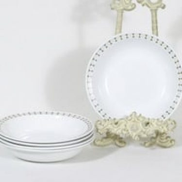 Arabia Seita lautaset, syvä, 5 kpl, suunnittelija Raija Uosikkinen, syvä, serikuva