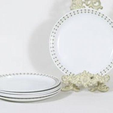 Arabia Seita lautaset, matala, 6 kpl, suunnittelija Raija Uosikkinen, matala, serikuva