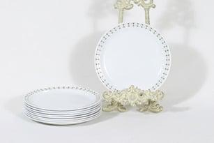 Arabia Seita lautaset, pieni, 9 kpl, suunnittelija Raija Uosikkinen, pieni, serikuva