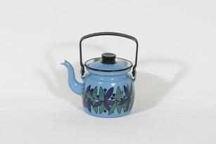 Finel kahvipannu, sininen, suunnittelija , pieni, serikuva, emali