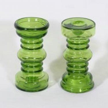 Riihimäen lasi Carmen kääntömaljakot, vihreä, 2 kpl, suunnittelija Tamara Aladin,