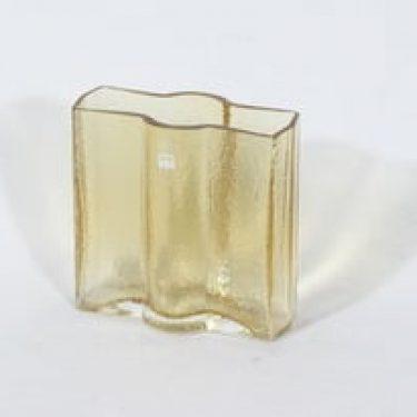 Riihimäen lasi Railo maljakko, amber, suunnittelija Nanny Still, pieni