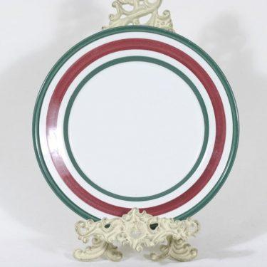 Arabia Purpuri-jenkka lautanen, käsinmaalattu, suunnittelija Ulla Procope, käsinmaalattu, signeerattu