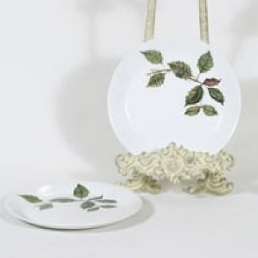 Arabia Ruusu leivoslautaset, 2 kpl, suunnittelija Anneli Qveflander, serikuva