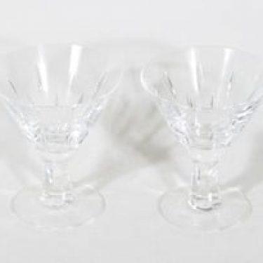 Nuutajärvi Inari lasit, 9 cl, 2 kpl, suunnittelija Saara Hopea, 9 cl, hiottu