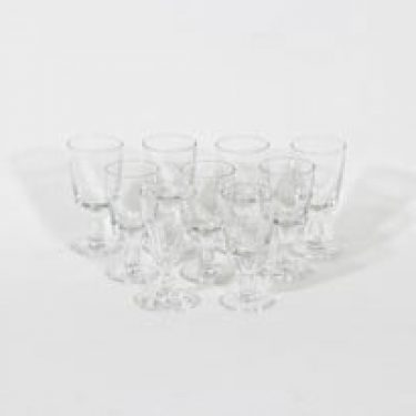 Nuutajärvi Astor lasit, 3 cl, 9 kpl, suunnittelija Saara Hopea, 3 cl