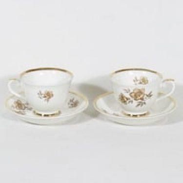 Arabia Myrna kahvikupit, 2 kpl, suunnittelija Olga Osol, serikuva