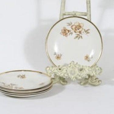 Arabia Myrna leivoslautaset, 6 kpl, suunnittelija Olga Osol, serikuva