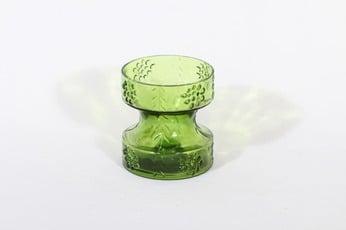Riihimäen lasi Mesimarja kääntömaljakko, vihreä, suunnittelija Tamara Aladin,