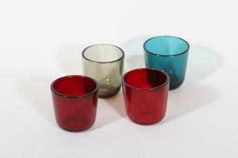 Nuutajärvi 5023 lasit, 7 cl, 4 kpl, suunnittelija Kaj Franck, 7 cl, pieni, eri värejä