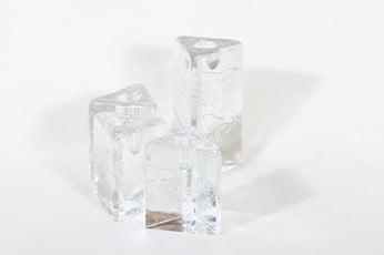 Iittala Arkipelago kynttilänjalat, eri kokoja, 4 kpl, suunnittelija Timo Sarpaneva, eri kokoja