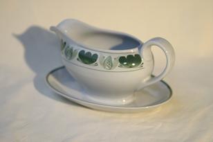 Arabia Green Laurel kastikekaadin, käsinmaalattu, suunnittelija , käsinmaalattu