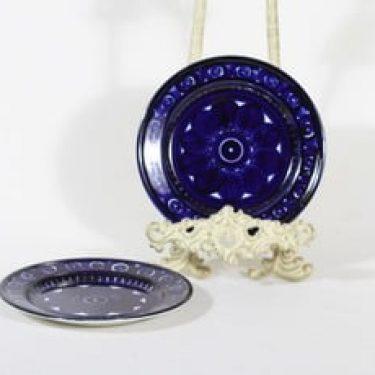 Arabia Valencia lautaset, pieni, 2 kpl, suunnittelija Ulla Procope, pieni, käsinmaalattu, signeerattu