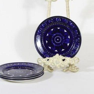 Arabia Valencia lautaset, pieni, 4 kpl, suunnittelija Ulla Procope, pieni, käsinmaalattu, signeerattu