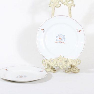 Arabia Kauris lautaset, pieni, 2 kpl, suunnittelija Tyra Lungren, pieni, siirtokuva