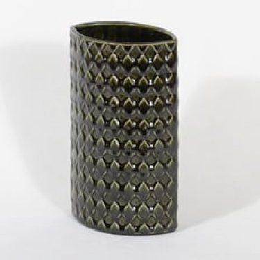 Arabia 379/4 maljakko, oliivinvihreä, suunnittelija Kaarina Aho,