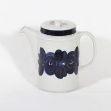 Arabia Anemone kahvikaadin, käsinmaalattu, suunnittelija Ulla Procope, käsinmaalattu, signeerattu