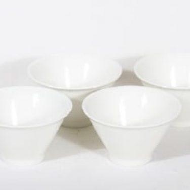 Arabia Harlekin annoskulhot, valkoinen, 4 kpl, suunnittelija ,