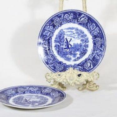Arabia Maisema lautaset, sininen, 2 kpl, suunnittelija , pieni, kuparipainokoriste