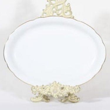 Arabia Siro vati, valkoinen, suunnittelija , soikea, kultareuna