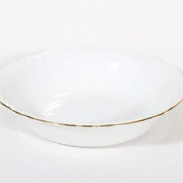 Arabia Siro kulho, valkoinen, suunnittelija , pyöreä, kultareuna