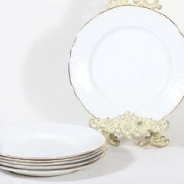 Arabia Siro lautaset, matala, 6 kpl, suunnittelija , matala, kultareuna