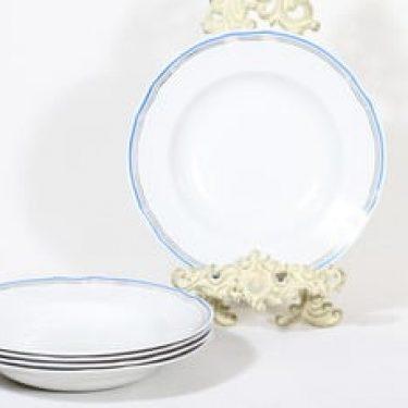 Arabia Lotta lautaset, syvä, 5 kpl, suunnittelija , syvä, valkoinen, raitakoriste