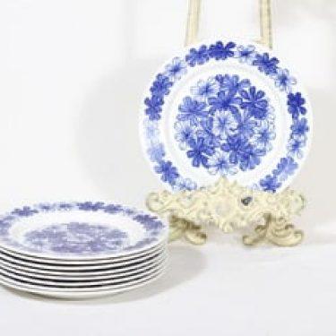 Arabia FC lautaset, kukkakuvio, 9 kpl, suunnittelija , kukkakuvio, pieni, serikuva