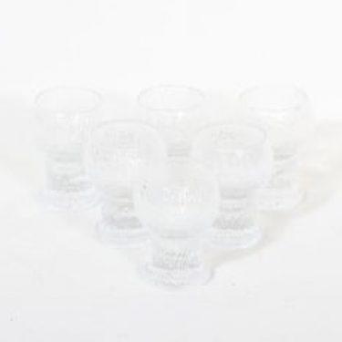 Iittala Kekkerit lasit, Naukku, 6 kpl, suunnittelija Timo Sarpaneva, Naukku, 5 cl, pieni