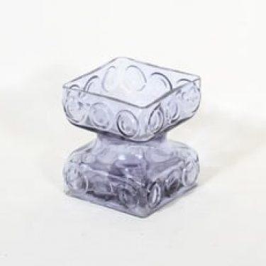 Riihimäen lasi Kehrä kääntömaljakko, neodymi, suunnittelija Tamara Aladin,
