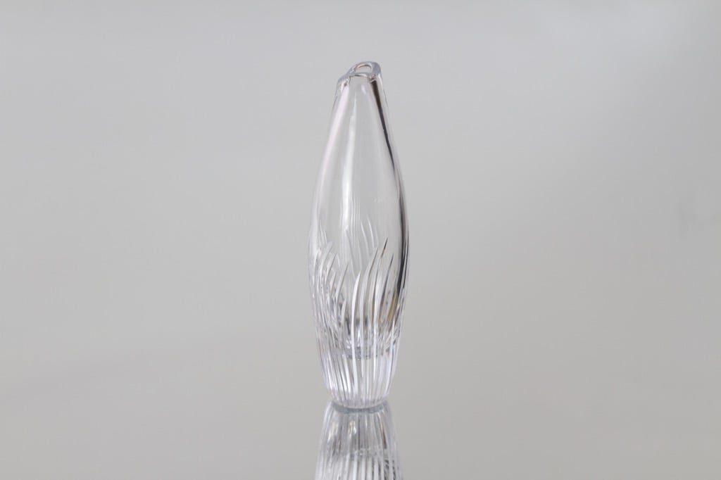 Riihimäen lasi T/84 maljakko, signeerattu, suunnittelija Helena Tynell, signeerattu, pieni