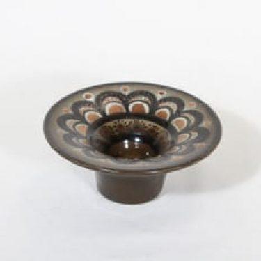 Arabia HLA 120 kynttilänjalka, käsinmaalattu, suunnittelija Hilkka-Liisa Ahola, käsinmaalattu, pieni, signeerattu