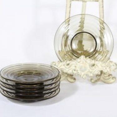 Karhula 2249 lautaset, harmaa, 6 kpl, suunnittelija Aino Aalto, pieni