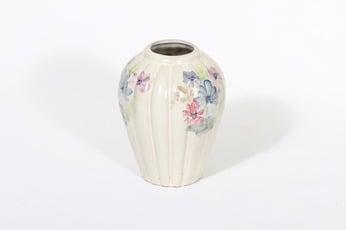 Arabia ARA maljakko, kukkakuvio, suunnittelija Kurt Ekholm, kukkakuvio, pieni, käsinmaalattu