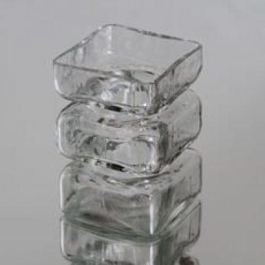 Riihimäen lasi maljakko, kirkas, suunnittelija Helena Tynell,