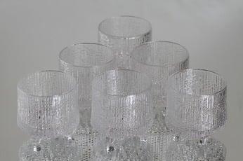 Iittala Ultima Thule lasit, 10 cl, 6 kpl, suunnittelija Tapio Wirkkala, 10 cl