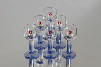 Iittala Mondo lasit, 3 cl, 6 kpl, suunnittelija Kerttu Nurminen, 3 cl, pieni