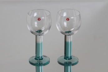 Iittala Mondo lasit, 20 cl, 2 kpl, suunnittelija Kerttu Nurminen, 20 cl