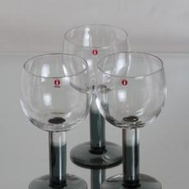 Iittala Mondo lasit, 58 cl, 3 kpl, suunnittelija Kerttu Nurminen, 58 cl, suuri