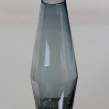 Riihimäen lasi maljakko, siniharmaa, suunnittelija Tamara Aladin,