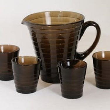 Iittala 2449|2049 kaadin ja lasit, 1.2 l, 4 kpl, suunnittelija Aino Aalto, 1.2 l