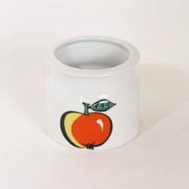 Arabia Tutti Frutti purnukka, omena, suunnittelija Ulla Procope, omena, serikuva
