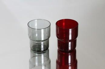 Nuutajärvi 1718 lasit, 15 cl, 2 kpl, suunnittelija Saara Hopea, 15 cl