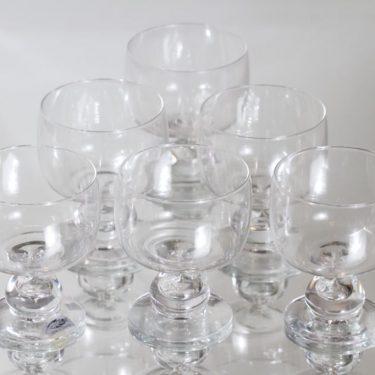 Nuutajärvi Mimi lasit, 18 cl, 6 kpl, suunnittelija Heikki Orvola, 18 cl