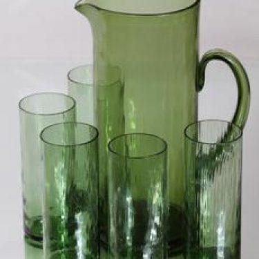 Riihimäen lasi 1107|1038 kaadin ja lasit, 2 l|30 cl, 5 kpl, suunnittelija Nanny Still, 2 l|30 cl