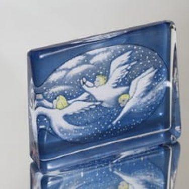 Iittala lasikortti, Sinessä taivaan keinuen, suunnittelija Heljä Liukko-Sundström, Sinessä taivaan keinuen, suuri, serikuva