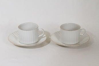 Arabia Kultapiisku kahvikupit, valkoinen, 2 kpl, suunnittelija Kaj Franck,