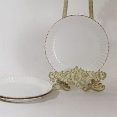 Arabia Kultapiisku lautaset, valkoinen, 3 kpl, suunnittelija Kaj Franck,