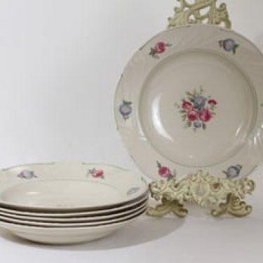 Arabia Tellervo lautaset, syvä, 6 kpl, suunnittelija , syvä, siirtokuva